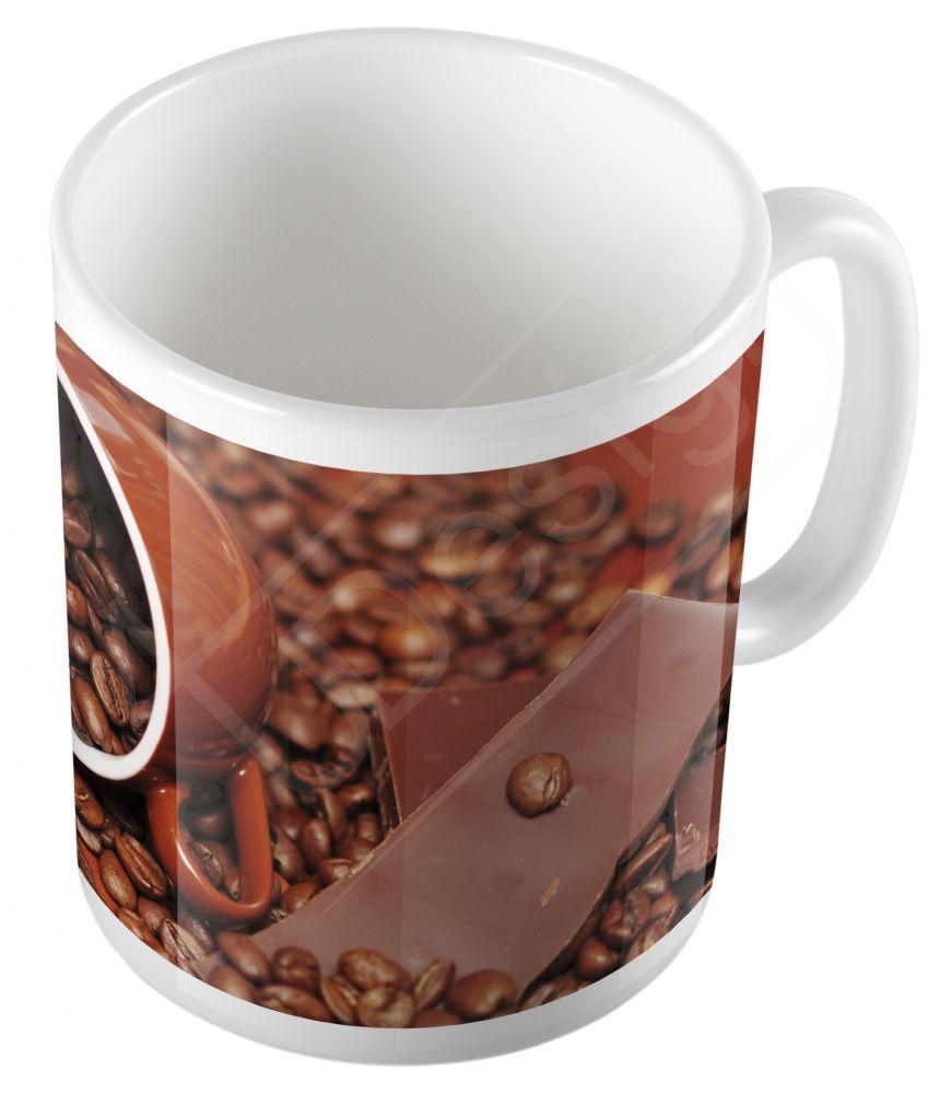 Retro kávészemek bögre