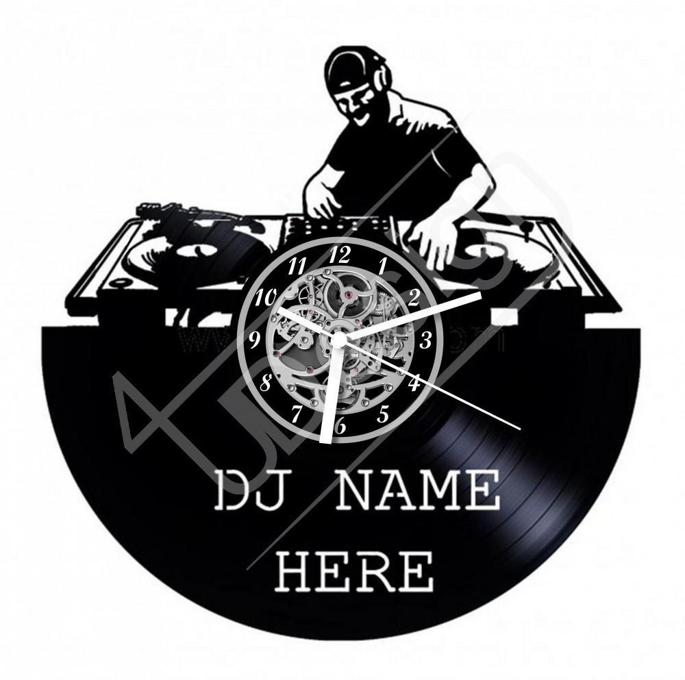 DJ-s egyedi szöveggel hanglemez óra