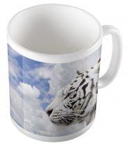 Fehér tigris bögre