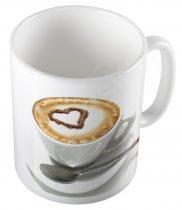 Retro szíves kávéscsésze bögre