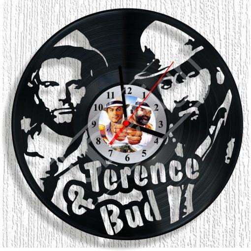 Bakelit óra Bud Spencer és Terence Hill - hanglemez óra