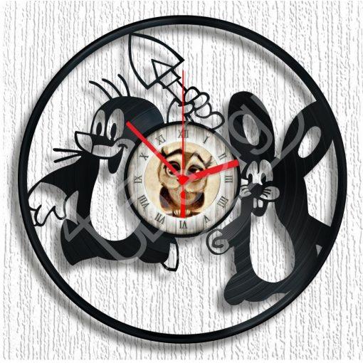 Kis vakondos  - hanglemez óra - bakelit óra