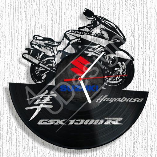 Suzuki Hayabusa hanglemez óra - bakelit óra
