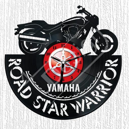 Yamaha Road Star Warrior hanglemez óra - bakelit óra