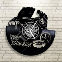 Autószerelős hanglemez óra