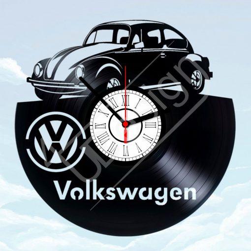 VW Beetle - VW bogár hanglemez óra - bakelit óra
