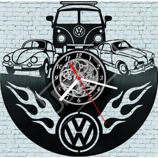 VW retro hanglemez óra - bakelit óra
