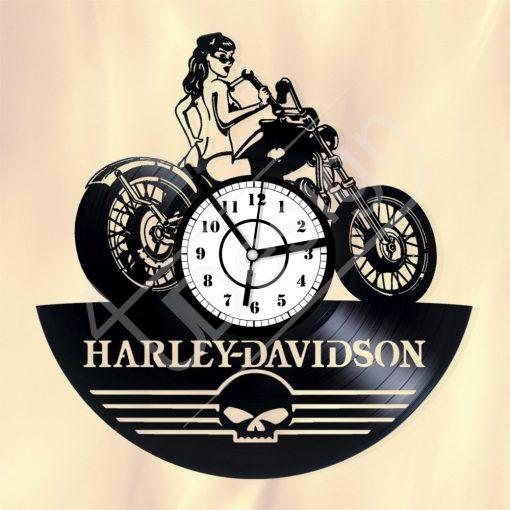 Harley Davidson hanglemez óra - bakelit óra