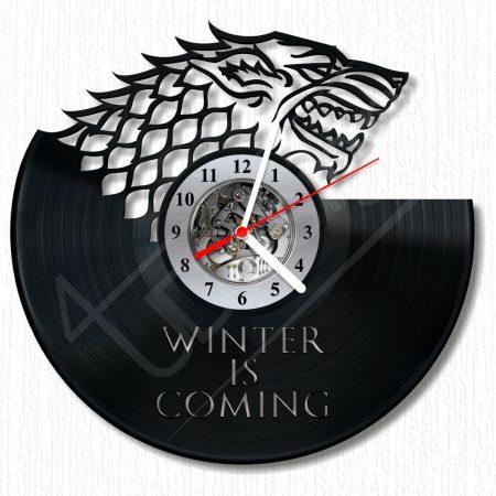 Game Of Thrones - STARK fali óra hanglemez óra