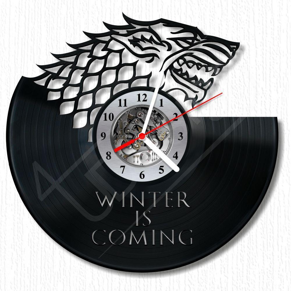 fa678f854e Game Of Thrones - STARK fali óra hanglemez óra - Egyedi ajándék és ...