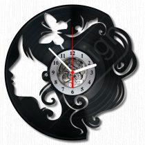 Lány pillangóval hanglemez óra