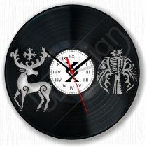 Aranyszarvas Turullal, rovásírásos számlap hanglemez óra