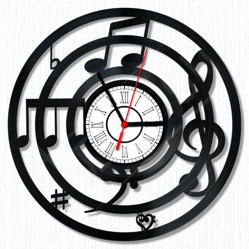 Zene hanglemez óra - bakelit óra