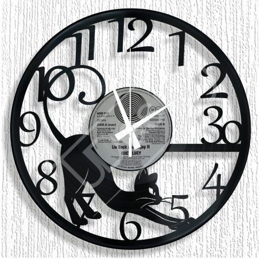 RK - Macskás hanglemez óra - bakelit óra
