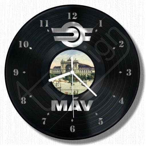 MÁV emlék óra hanglemez óra - bakelit óra