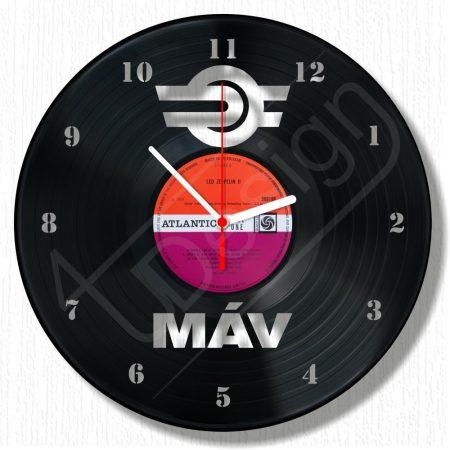 MÁV - Sosem késünk emlék óra hanglemez óra