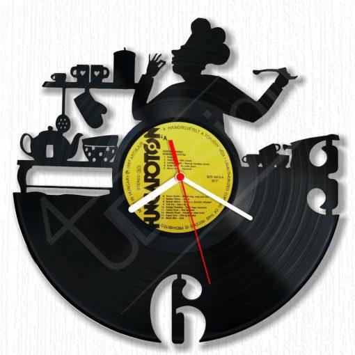 RK - Konyhatündér hanglemez óra - bakelit óra