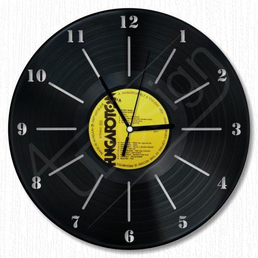 Elegánsan egyszerű hanglemez óra - bakelit óra