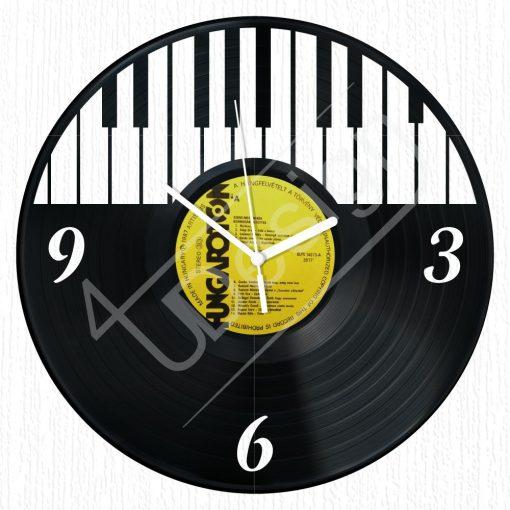 Zongorás hanglemez óra - bakelit óra