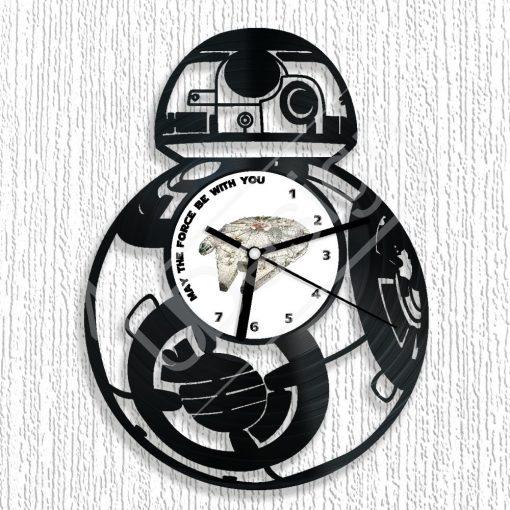 Star Wars BB-8 hanglemez óra - bakelit óra