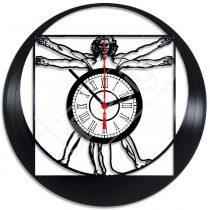 Vitruvian ember Leonardo da Vinci hanglemez óra
