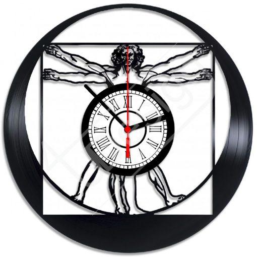 Vitruvian ember Leonardo da Vinci hanglemez óra - bakelit óra