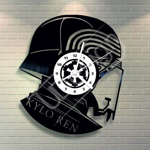 Star Wars Kylo Ren hanglemez óra - bakelit óra