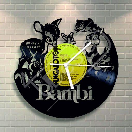 Bambi hanglemez óra - bakelit óra