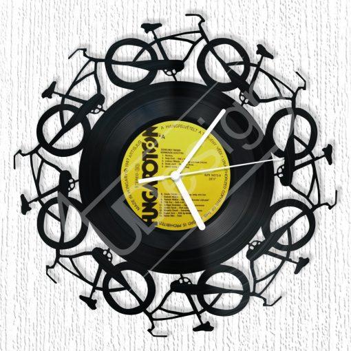 Bicajok hanglemez óra - bakelit óra