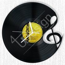 Violinkulcs hanglemez óra
