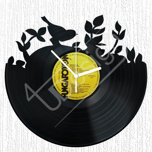 Madárka hanglemez óra - bakelit óra