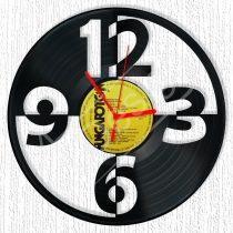 Számok hanglemez óra