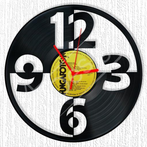 Számok hanglemez óra - bakelit óra