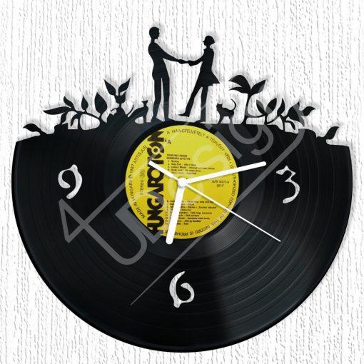 Pár hanglemez óra - bakelit óra