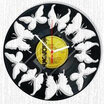 Pillangók hanglemez óra