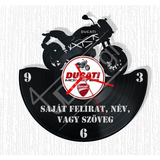 Ducati hanglemez óra - bakelit óra