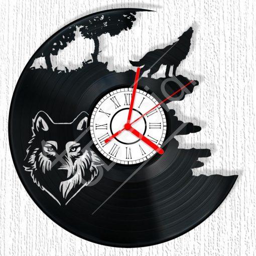 Farkas hanglemez óra - bakelit óra