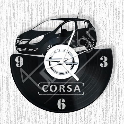 Opel Corsa hanglemez óra - bakelit óra