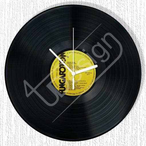 Sima hanglemez óra - bakelit óra
