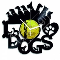Kutyák hanglemez óra