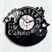Kaszinó hanglemez óra