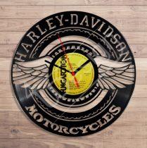 Harley Davidson motoros hanglemez óra