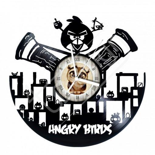 Angry Birds hanglemez óra - bakelit óra