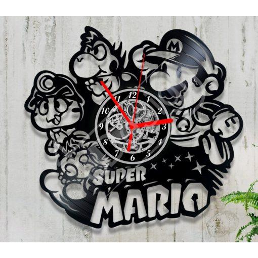 Super Mario hanglemez óra - bakelit óra
