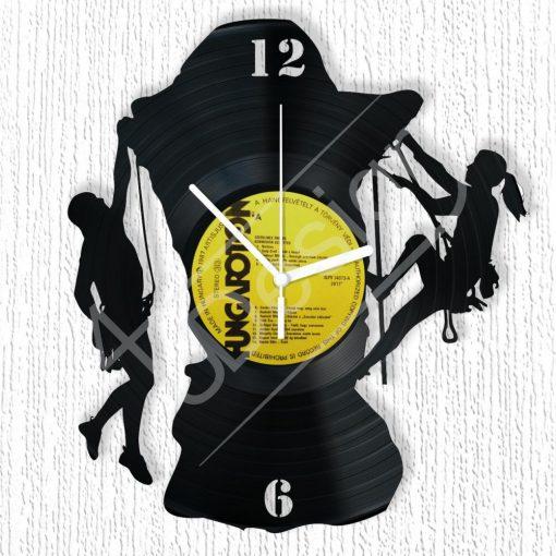 Sziklamászók hanglemez óra - bakelit óra
