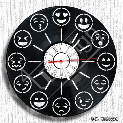 Emoji hanglemez óra - bakelit óra
