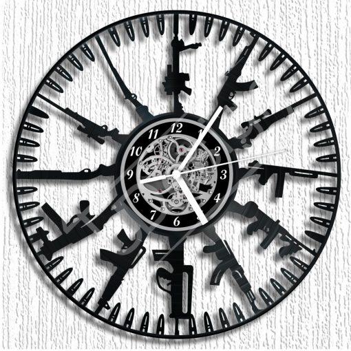 Fegyverek hanglemez óra - bakelit óra