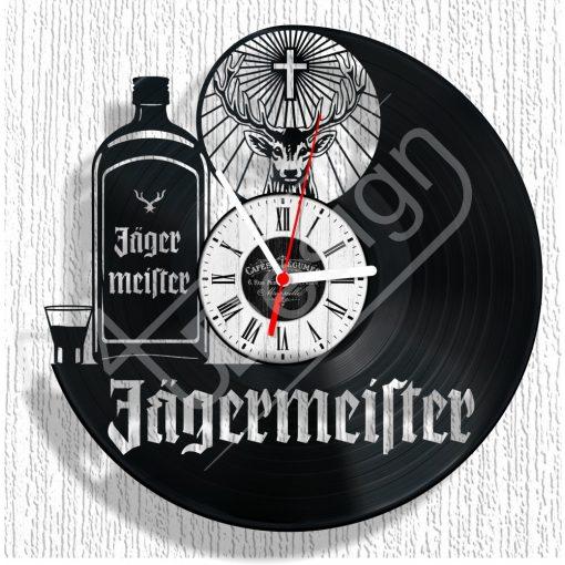 Jagermaister hanglemez óra - bakelit óra