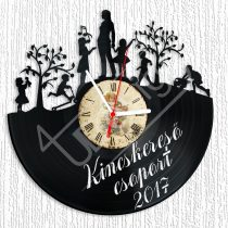 Óvodai csoport ballagó ajándék egyedi szöveggel hanglemez óra