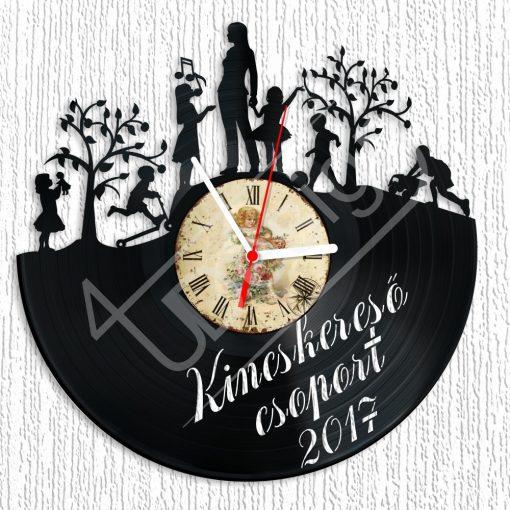 Óvodai csoport ballagó ajándék egyedi szöveggel hanglemez óra - bakelit óra